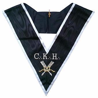 Masonic officer's collar - assr - 30th degree - ckh - grand secrétaire