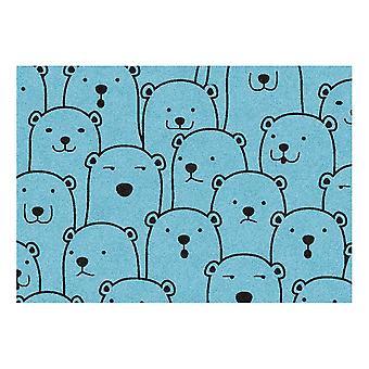 Kids Rug - Ours polaire - Lavable - 65 x 85 cm
