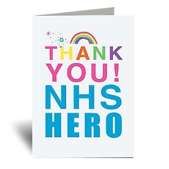 Kiitos NHS Hero Rainbow A6 Onnittelukortti