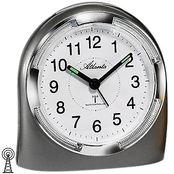 Atlanta 1404/4 alarm clock radio alarm clock analog anthracite with light Snooze