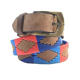Carlos diaz unisex brun læder polo bælte cdupb16