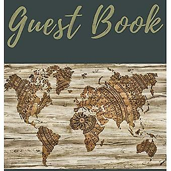 Guest Book with blank pages (Hardcover): Guest book, air bnb book, visitors book, holiday home, comments book, holiday cottage, rental, vacation guest book, Guest Comment Book, Visitor Comments Book