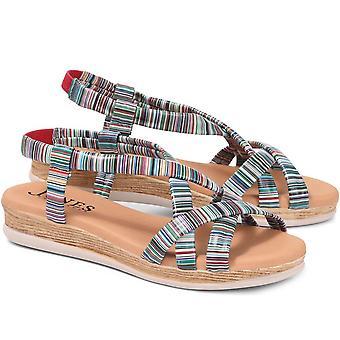 Jones Bootmaker Naisten flat nahka sandaali