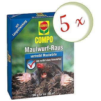 Sparset: 5 x COMPO Maulwurf-Raus, 2 x 50 g