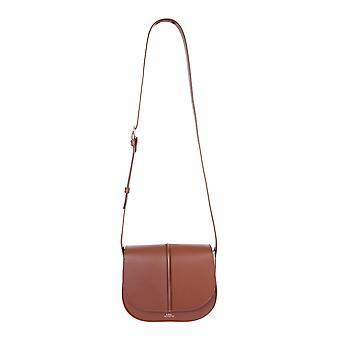 A.p.c. Pxawvf61179cadnoisette Women's Brown Leather Shoulder Bag