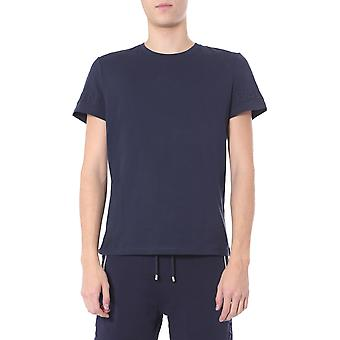 Balmain Th11601i2406ub Män's Blue Cotton T-shirt