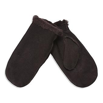 Nordvek Womens Sheepskin Mittens - Elasticated Cuff - Made From 4 Pieces # 320-100