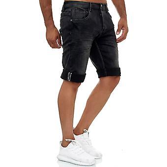 Jaylvis Men's Jeans Shorts Short Stretch Pants Bermuda Used Summer Design