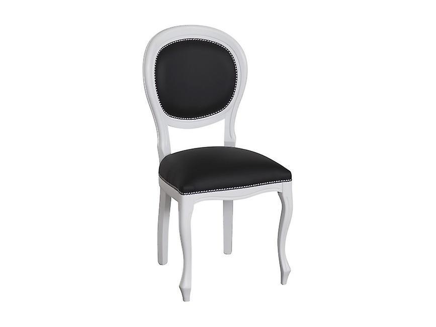 Sedia Dioniso Colore Bianco, Nero in Legno, L50xP50xA95 cm