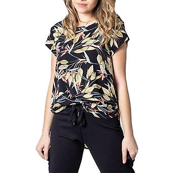 Only Onivic Ss AOP Top Noos Wvn Black