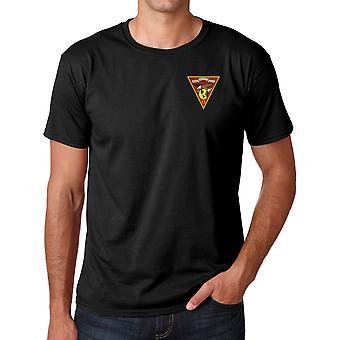 Marines USMC MAG 13 brodé Logo - coton Ringspun T Shirt