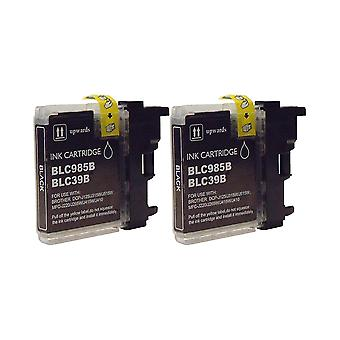 RudyTwos 2x Replacement for Brother LC-985BK Ink Unit Black Compatible with MFC-J220, J265W, J410, DCP-J125, J315W, J415W, J515W