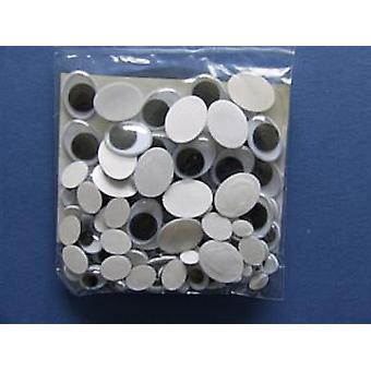 100 Assorted Oval Craft Googly Eyes | Wiggly Wobbly Eyes