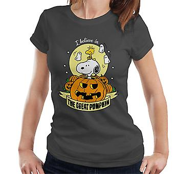 Peanuts Halloween The Great Pumpkin Women's T-Shirt