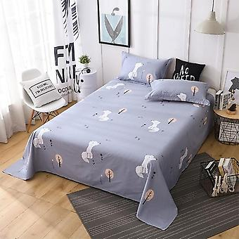 Soft Solid Color Modern Polyester Printed Skin-friendly Flat Bed Sheet
