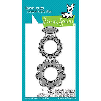 Gazon Fawn Onthullen Wheel Circle Add-On Frames: Flower en Sun Dies