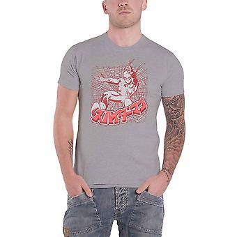 سبايدرمان تي قميص الشعار الياباني جديد الرسمية الأعجوبة الرجال الرمادي