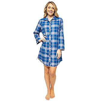 Cyberjammies Eliza 4546 Women's Blue Mix Check Nightshirt