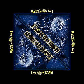 Iron Maiden Bandana Live After Death Album Logo Official New Black (21in x 21in)