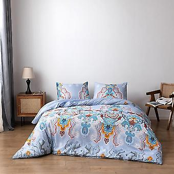 Geometric Printed Duvet Cover Set