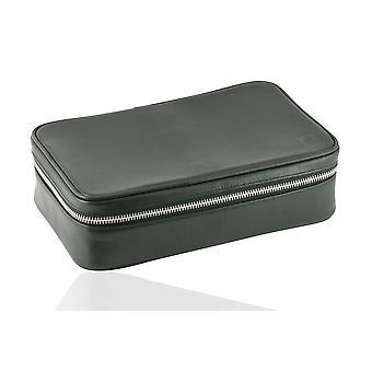 Black Oxford Leather Sponge Bag