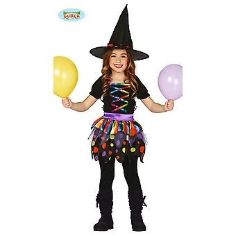 Guirca colorful child witch costume for girls Walpurgis night Halloween