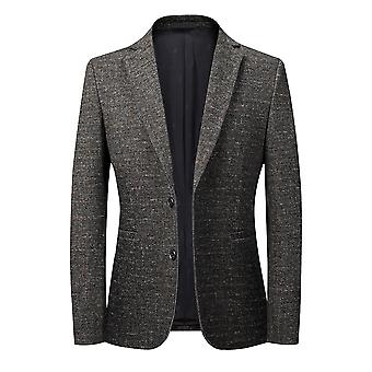 Allthemen Men's Autumn Winter Casual Slim Fit Two-button Blazer Jacket