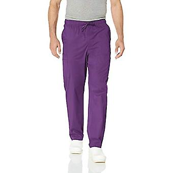 Essentials Men's Quick-Dry Stretch Scrub Pant, Eggplant, X-Large