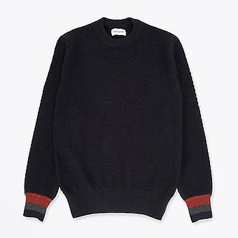Oliver Spencer - Blenheim - Pull tricoté en laine - Marine