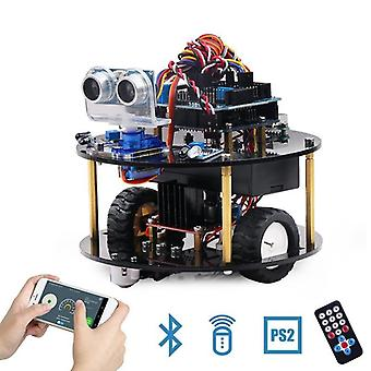 Keywish Roboter für Arduino Uno R3, Smart Cars Kit App Rc Fernbedienung Ps2,