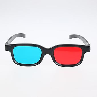 1pcs Frame 3d Glasses For Dimensional Anaglyph Movie Game Dvd Black