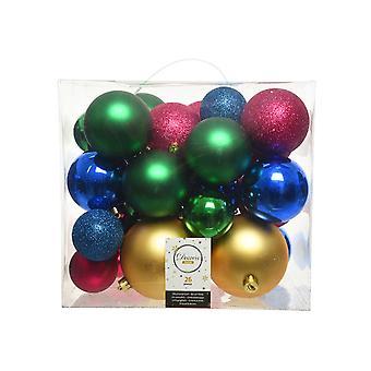26 Jewel Colours Kerstboom Shatterproof Kerstballen Selection Pack - 6cm-10cm