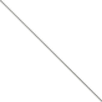 14k White Gold Solid Lobster Claw Closure 1.25mm Spiga Chain Necklace - Length: 14 to 30