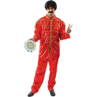 Orion Costumes Mens Ringo Starr The Beatles Rock 60s Fancy Dress Costume Red