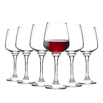 Vajilla de argón 'Tallo' Gafas de Vino Tinto Contemporáneo - Caja de Regalo de 6 Gafas 400ml (14oz)