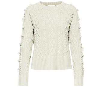 b.young Melissa Cream Cable Knit Jumper