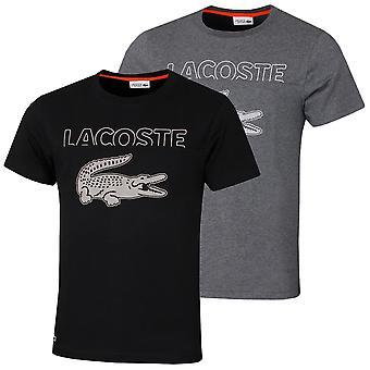 Lacoste Herren Sport übergroße Krokodil Bio technische Baumwolle T-Shirt