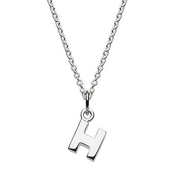 Dew Sterling Silver Dinky H Initial Pendant 9092HPH027