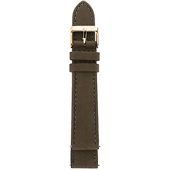 Gv2 By Gevril GV218.24.12.8  Rose Gold IP Buckle Brown Suede Leather Strap
