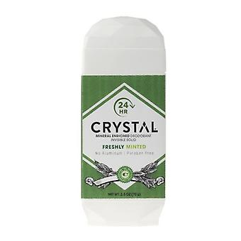 Crystal Body Deodorant Invisible Solid Deodorant, Fresh Mint 2.5 OZ