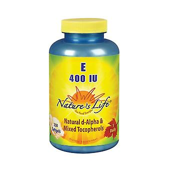Nature's Life Vitamin E d-Alpha & Mixed Tocopherols, 400 IU, 250 softgels