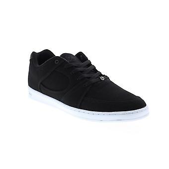 ES Accel Slim  Mens Black Canvas Skate Inspired Sneakers Shoes