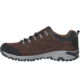 Trespass Mens Falark Waterproof Walking Hiking Boots Trainers - Dark Earth