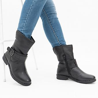 لوتس ماترهورن السيدات الجلود الكاحل أحذية الأسود