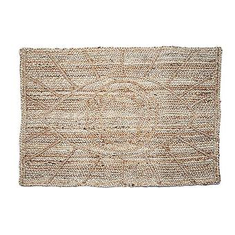 Hand-braided Bohemian Eye Design Jute Doormat