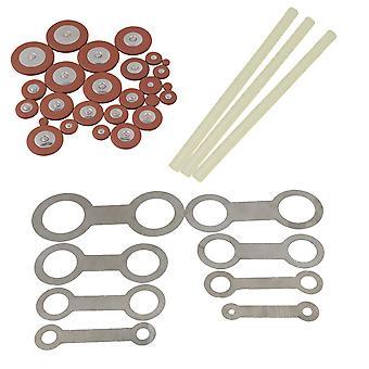 Alto saxofon Reparation Kit Metall verktyg & lim stick & 25st Sax Pads Set