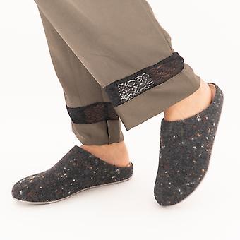 FitFlop Chrissie Speckle Ladies Felt Mule Slippers Grey