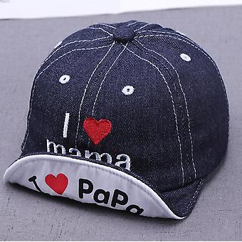 Denim Baby Hat, Letters Kids Baseball Caps
