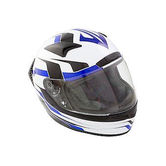 GSB G-335 Full Face Motorcycle Helmet Blue Scratch Resistant Visor