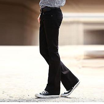 Men's Flared Jeans Trousers, High Waist, Long Flared Pants